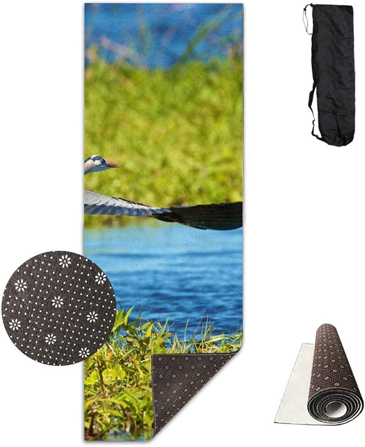 TakeOff Geese Yoga Mat  Advanced Yoga Mat  NonSlip Lining  Easy to Clean  LatexFree  Lightweight and Durable  Long 180 Width 61cm
