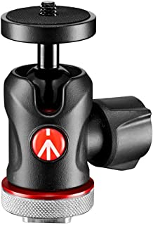 Manfrotto MH492LCD-BH, Centre Ball Head with Cold Shoe Connection for Monitors, LED, Microphones, Action Cameras and Acces...