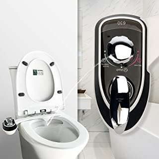 Bidet Toilet Seat Attachment No-Electric with Self Cleaning Dual Nozzle, Fresh Water Toilet Bidet with Adjustable Water Pr...