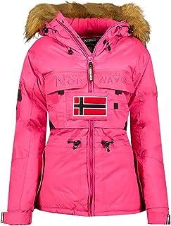 Geographical Norway Rose /& Tansy Veste Softshell pour Femme Veste dext/érieur Respirante Coupe-Vent imperm/éable avec Capuche Amovible pour Femme