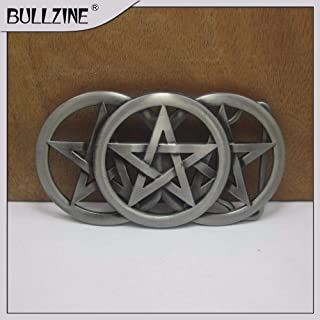 Buckes - The Wholesale Star Belt Buckle with Pewter Finish FP-03427-1 Suitable for 4cm Width Belt
