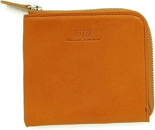 薄マチL字ファスナー財布 ショート 栃木レザー BECKER(ベッカー)日本製