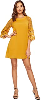 Best yellow lace chiffon dress Reviews
