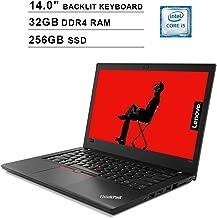 2019 Newest Lenovo ThinkPad T480 14 Inch FHD Laptop (8th Gen Inter Quad Core i5-8250U up to 3.4GHz, 32GB DDR4 RAM, 256GB SSD, Intel UHD Graphics 620, Backlit Keyboard, Windows 10 Pro)
