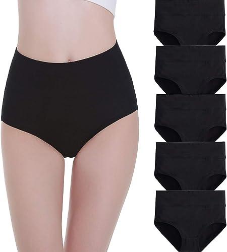 FALARY Culotte Femme Taille Haute Coton 5 pièces