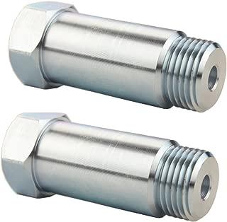 JGR 2PCS Defouler Straight M18 x 1.5 For O2 Oxygen Sensor Lambda Sensor Fitting Bung