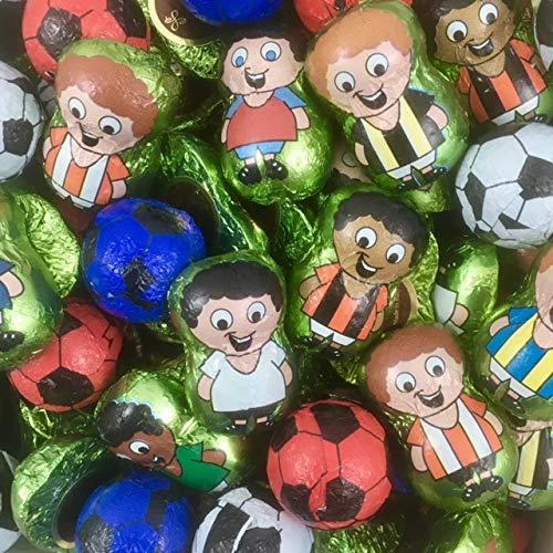 Palloni di Calcio e Calciatori Champions Cioccolatini La Suissa Kg 1 - Praline al latte ripieni di Crema Gianduia e Cereali - Senza Glutine