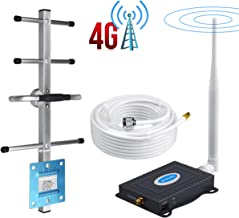 AT&T Cell Phone Signal Booster Band12/17 T-Mobile 700Mhz FDD ATT Cell Signal Booster Amplifier AT&T Cell Phone Booster Repeater Mobile Signal Booster BOSURU with Whip+Yagi Antenna Kits for Home Use
