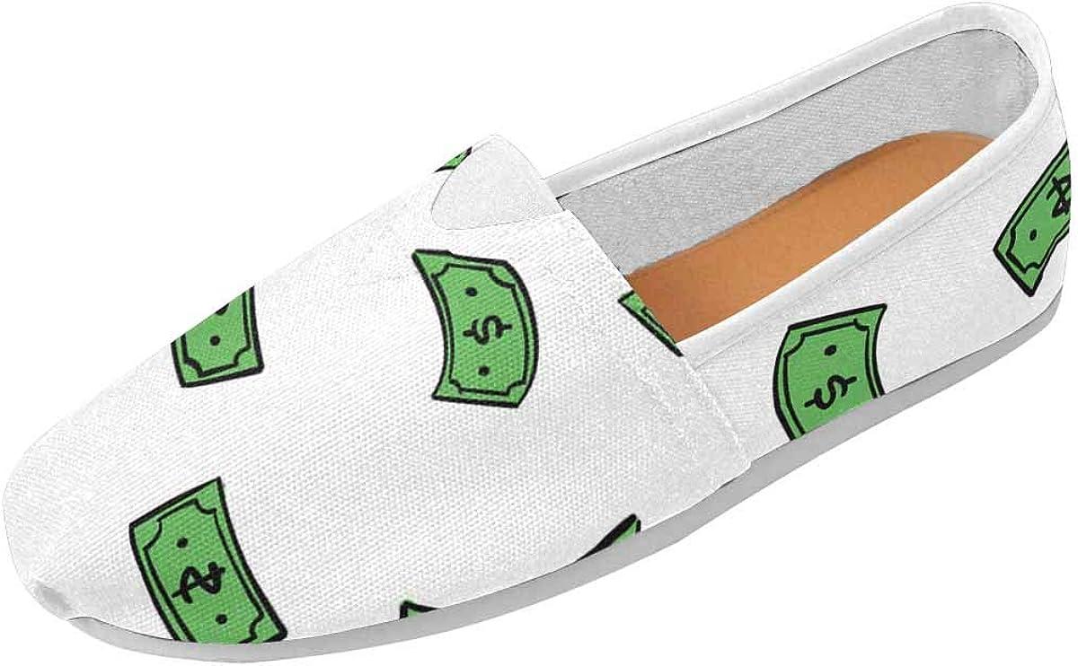 INTERESTPRINT Doodle Money Rain Women's F Slip Loafers Casual unisex 35% OFF On