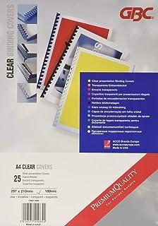 GBC CN011880 Pack de 25 Plats de Couverture A4 Transparent