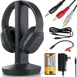 NEEGO Sony WHRF400R - Auriculares inalámbricos para Ver TV con Base transmisor (TMRRF400) - 6 pies 3,5 mm estéreo + Adaptador RCA para TV