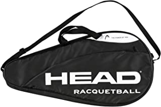 HEAD Racquetball Deluxe Coverbag - Racket Carrying Bag w/Accessory Compartment & Adjustable Shoulder Strap
