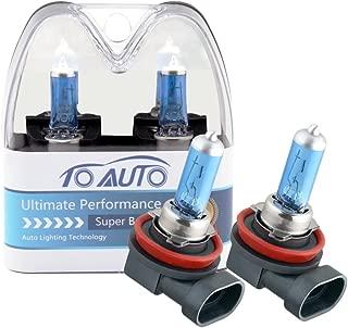 TOAUTO 2 X H8 35W 12V Car Headlight Lamp Halogen Light Super Bright Fog Xenon Bulb White