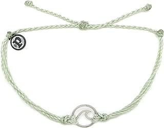 Silver Wave OG Bracelet - Silver Plated Charm, Adjustable Band - 100% Waterproof