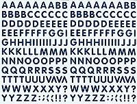 (シャシャン)XIAXIN 防水 PVC製 アルファベット ステッカー セット 耐候 耐水 ローマ字 キャラクター 表札 スーツケース ネームプレート ロッカー 屋内外 兼用 TS-541 (2点, ネイビー)