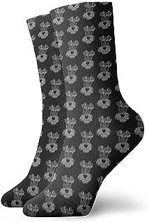 Not applicable, Calcetines unisex Adorable Mini Schnauzer Moda para perros Novedad Calcetines deportivos secos
