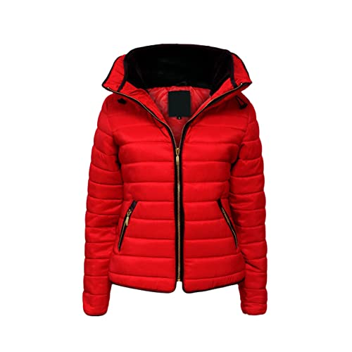 23c7b8cc1 Red Puffer Jacket: Amazon.co.uk