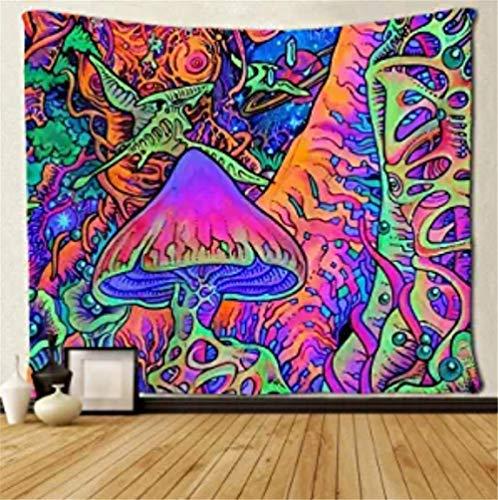 Pilz Tapisserie Psychedelic Tapisserie Tapisserie Hippie Art Tapisserie Pop Smoky Schwarzlicht Raumdekoration Übergroße Tapisserie Decke Für Wohnzimmer Schlafzimmer Dekoration 200X150Cm/79x59 inches