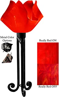 product image for Jezebel Radiance Torch Light. Hardware: Black. Glass: Really Red, Flame Style