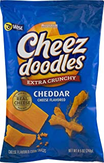 Wise Foods Cheez Doodles Extra Crunchy Cheddar 8.5 oz. Bag (3 Bags)