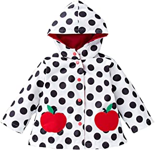 Baby Girls Boys Raincoat Windbreaker Hooded Bomber Outerwear Clothes Jacket