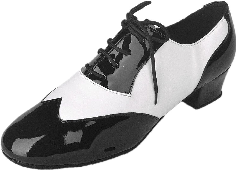Jig Foo Men's Salsa Ballroom Tango Latin Dance shoes Black