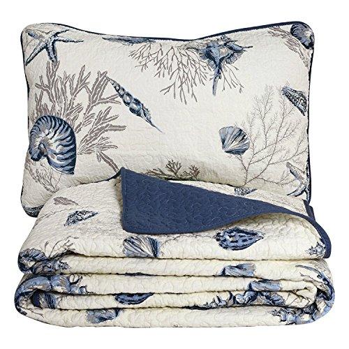 Brandream Queen Size Blue Ocean Comforter Set Nautical Bedding Set 100% Cotton