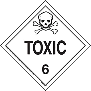 Division 6.1 Toxic Placard, Worded 25-pk. - 10.75