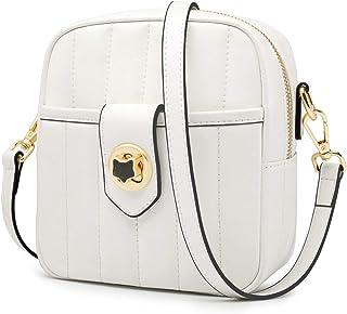 حقائب طويلة تمر بالجسم للنساء جلد طبيعي حقيبة كتف صغيرة