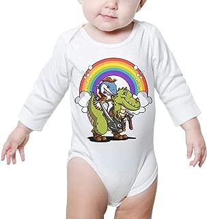 Pikaqiuleilei Cool White Horse Kids Cotton,Long Sleeve Infantile Suit