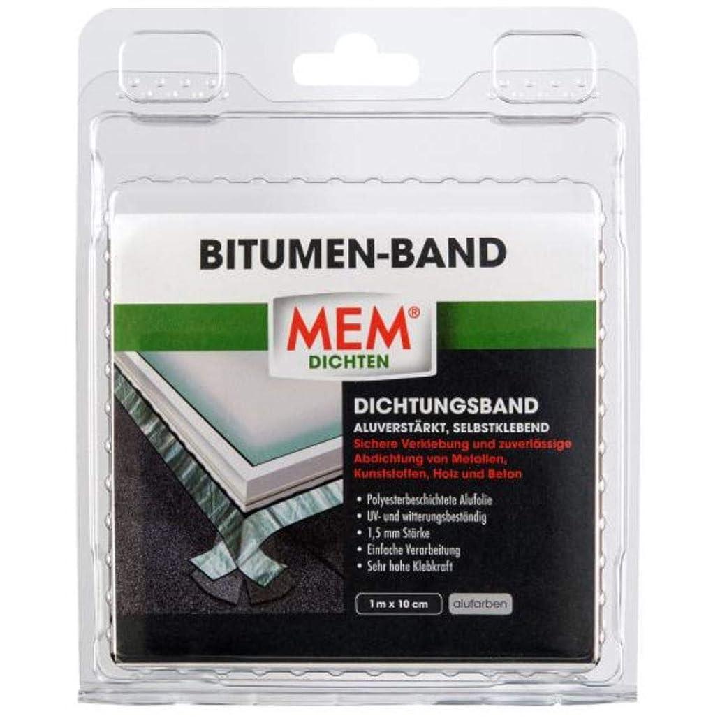MEM Bitumen Tape Aluminium 10?cm x 1?m Roll Velour,/500486