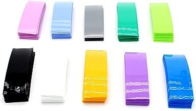 SpeedDa 300Pcs 10 Color 29.5MM 18.5MM Flat PVC Heat Shrink Tubing Tube for 18650 18500 Battery Shrink Film