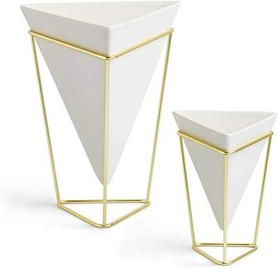 ArtMaison.ca Geometric Ceramic Decorative Vase Sea Green