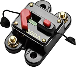 Leitungsschutzschalter Car Audio DC12-24V Leistungsschalter f/ür Auto Marine Boat Bike Stereo Audio Reset-Sicherung 80-300A 80A