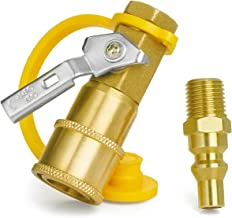 GASPRO 1/4 Inch RV Propane Quick Connect Fittings, Natural/LP Gas Propane Quick Disconnect Kit with Shutoff Valve, Full Flow Plug 100% Solid Brass