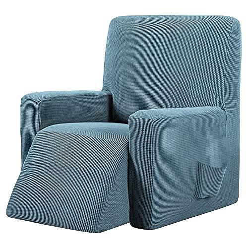 Funda De SillóN,Funda De Sofa Cubierta de Silla de reclinación elástica Impermeable Tapa de sofá de sofá de Todo Incluido para la Cubierta de la Sala de Estar Protector de Muebles (Color : Green)