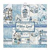 Stamperia International KFT Bloque 10 hojas - Doble cara Blue Land, Pergamino, Multicolor, talla única, SBBL47