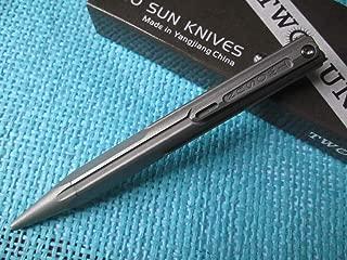 New Twosun Titanium Self Defense Personal Safety Tactical Pen TSPEN-02-Stonewash