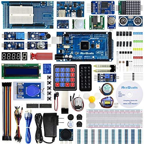 REXQualis Mega 2560 Kit The Most Complete Starter Kit w/Detailed Tutorial for Arduino Mega2560 Robot Kit