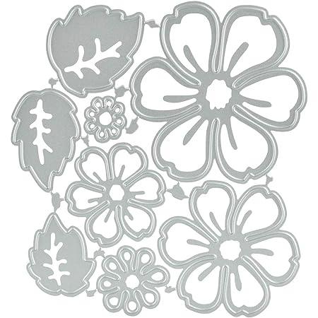 CODIRATO 8 PCS Matrices de Coupe de Fleurs Modèles de Coupe en Métal Matrices en Métal pour Scrapbooking/Gaufrage/Décoration d'Album Photo/Bricolage Artisanal/Cadeaux