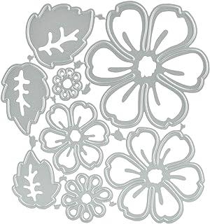 CODIRATO 8 PCS Matrices de Coupe de Fleurs Modèles de Coupe en Métal Matrices en Métal pour Scrapbooking/Gaufrage/Décorati...