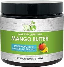 Best Raw Mango Butter by Sky Organics 16oz- 100% Pure, Unrefined, Organic Mango Butter-Skin Nourishing, Moisturizing & Healing, for Dry Skin, Hair Shine - For Skin Care, Hair Care & DIY- Made in USA