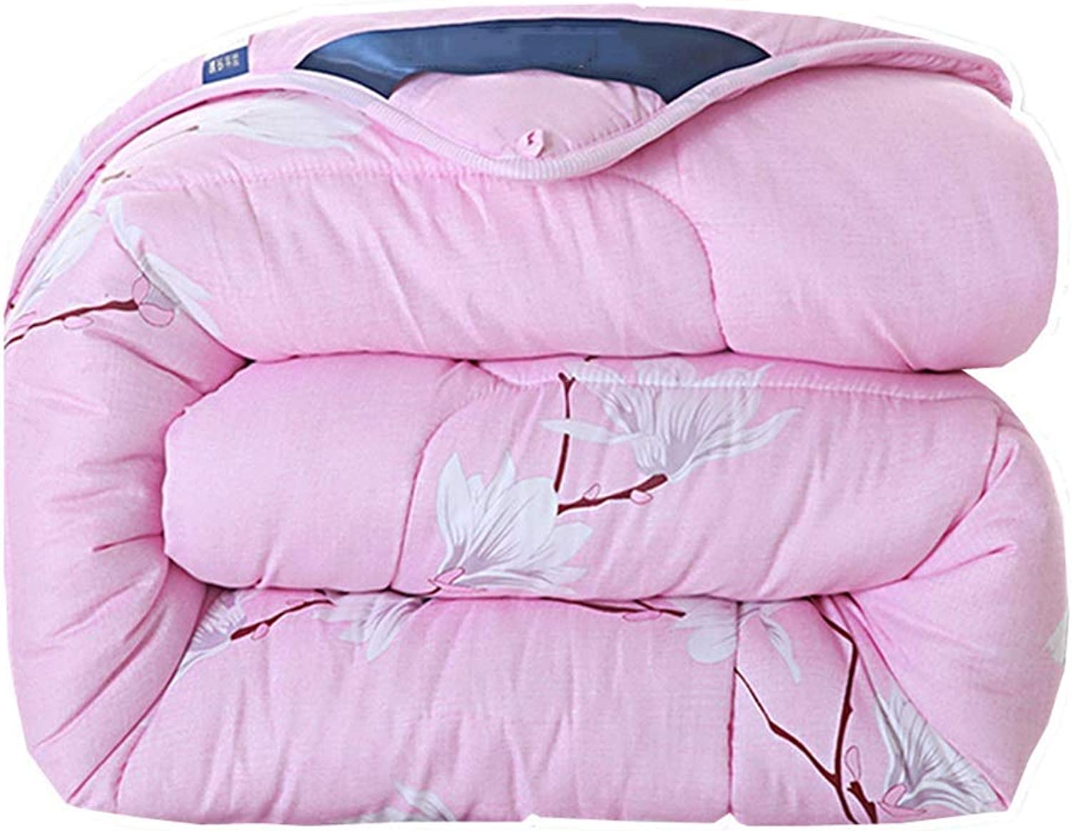 Quilt Lightweight Comforter All Seasons Quilt with Corner Loops, Anti-Allergenic and Dust Mite Resistant Pink Quilt (Size   180cmx220cm3.5kg)