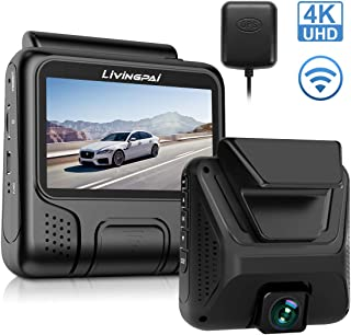 Máy thâu hình đặt trên xe ô tô – 4K Dash Cam 2880 x 2160P UHD Car Camera with WiFi GPS Dash Camera for Cars Driving Recorder with 3 Inch LCD Screen 170°Wide Angle G-Sensor, WDR, Parking Monitor, Loop Recording, Motion Detection
