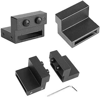 PeggyHD Barn Door Stopper for Track Sliding Door Hardware Flat Rail Roller Stop Limit Device Black 2pcs Set