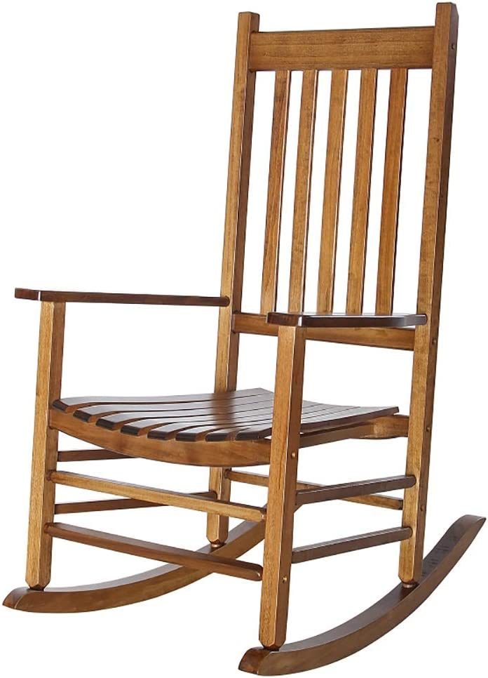 MYL New sales Extra Large Wooden Rocking Chair Antique Coun 2021 autumn and winter new Rocker - Porch