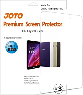 JOTO - ASUS MeMO Pad 8 (ME181C) Tablet Screen Protector Film Guard Ultra HD Crystal Clear (Invisible), exclusive for ASUS ME181C 2014 released, with Lifetime Replacement Warranty (3 Pack)