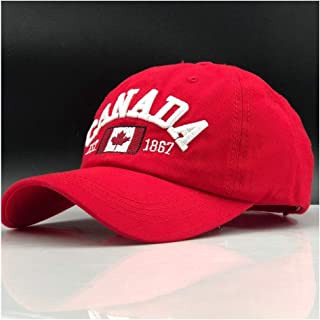 2019 Men Women Snapback Cap Adjustable Letter Embroidered Baseball Cap Baseball Cap Fashion Retro Casual Hat` TuanTuan (Color : Red, Size : 56-60CM)