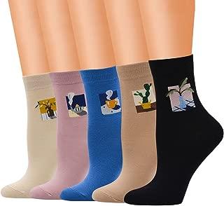 Women Socks Clearance Sale WEUIE Women Cute Cotton Medium Illustrations Pattern Lady Socks Tube Socks