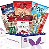 Beef Jerky Gift Box: Variety Of Healthy Beef Meat Sticks, Pork Rinds,...
